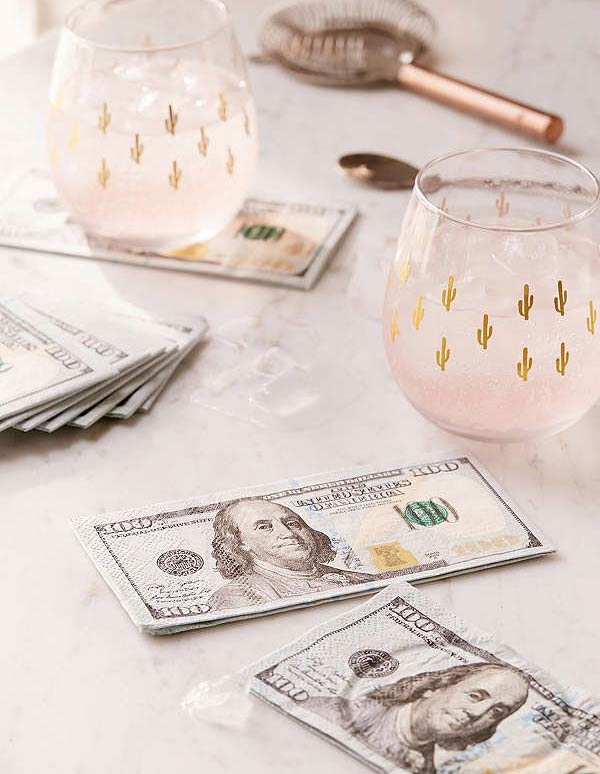 Filthy Rich 100 Dollar Napkins