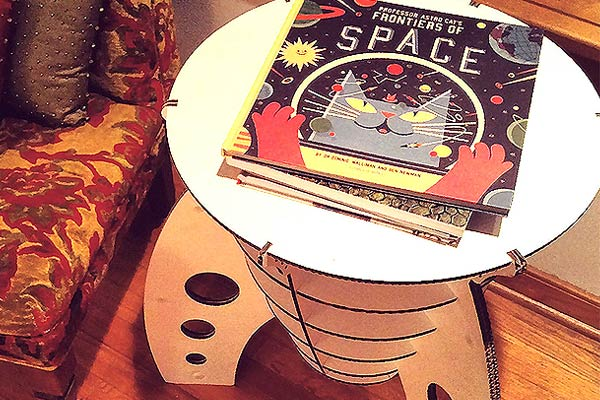 Cardboard Rocket Table
