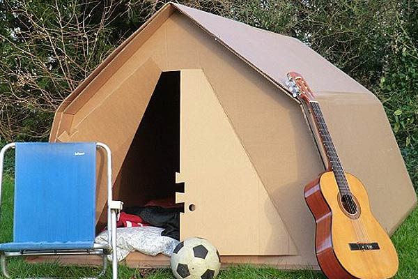 Temporary Cardboard Camping Tent