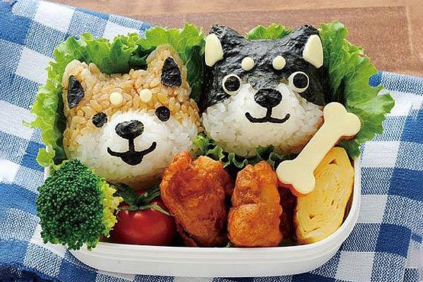Dog Face and Paw Bento Box Art Set