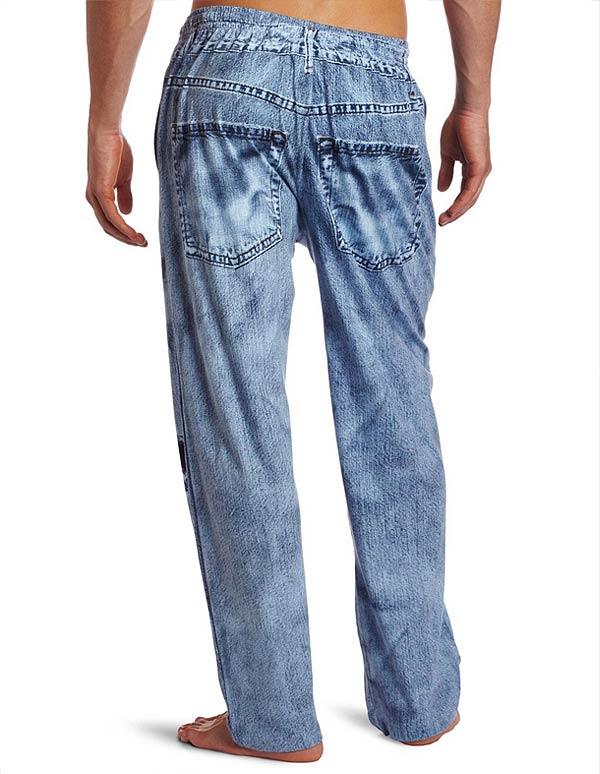 Denim Pajama Pants