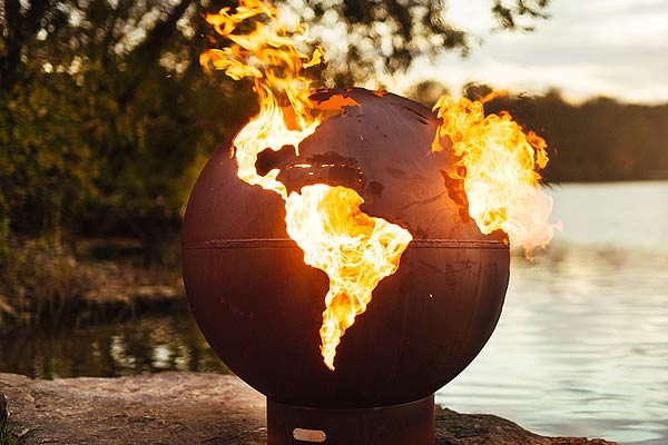 fire pit art globe fire pit i need it. Black Bedroom Furniture Sets. Home Design Ideas