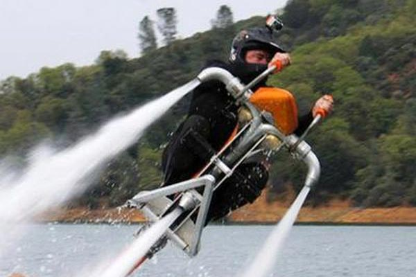 Flying Water Powered Bike