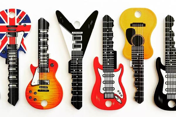 Guitar Shaped Keys - Rock Star Keys