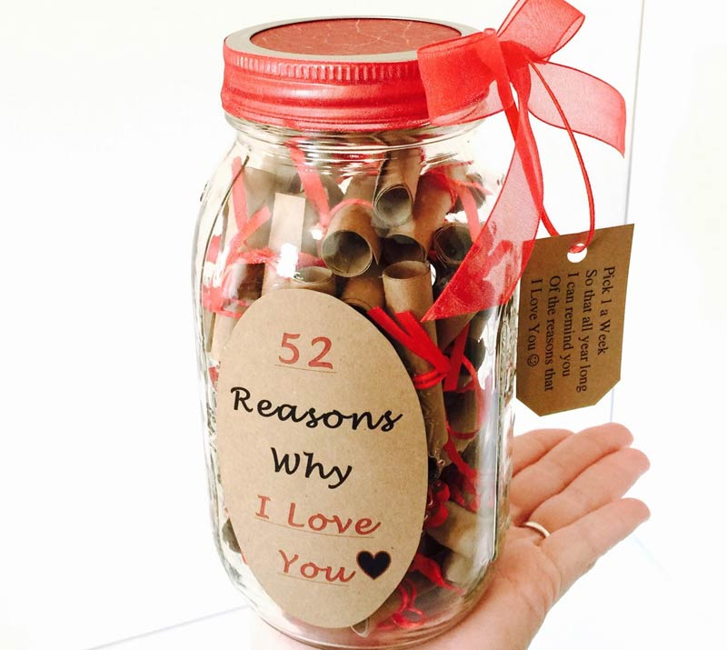 52 reasons i love you jar