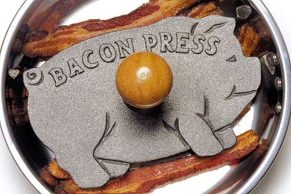 Pig Shaped Cast-Iron Bacon Press