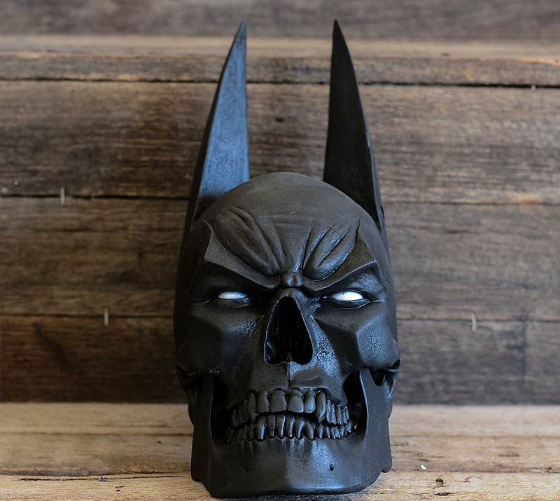 black batman skull with ears