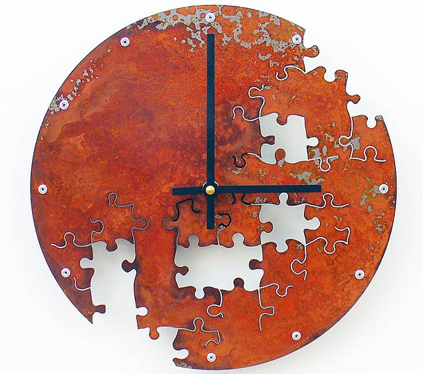 Incomplete Jigsaw Wall Clocks