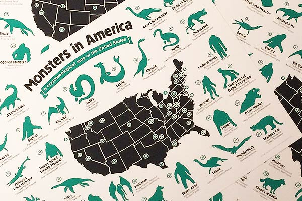 Map of American Cryptozoology