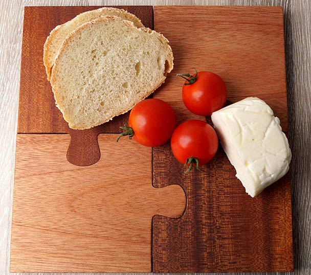 Wooden Puzzle Cutting Board