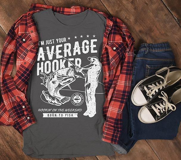 I'm a Hooker fishing T-shirts