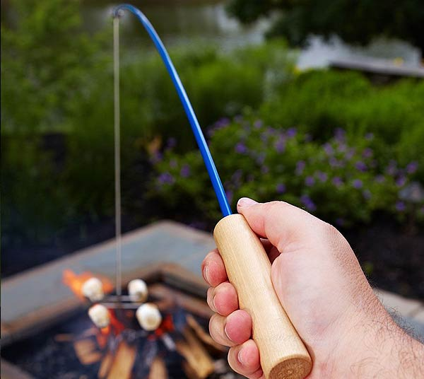 Fishing Pole Campfire Roaster