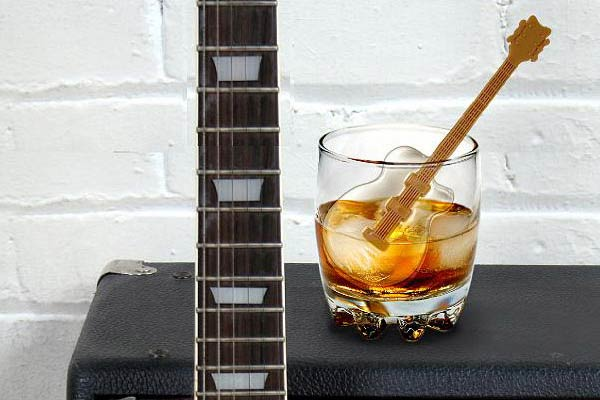 Guitar Ice Tray and Stirrers