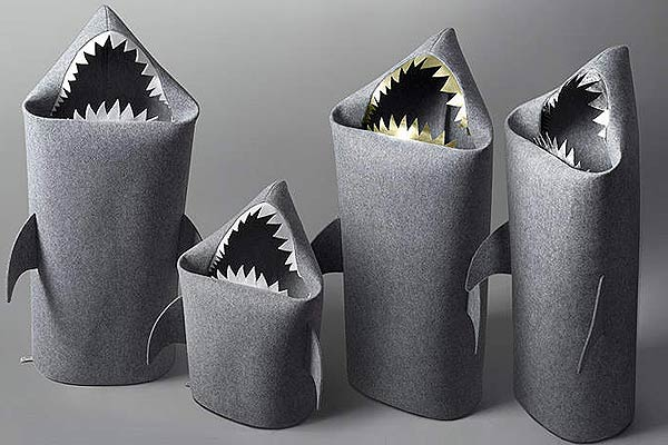 laundry basket shark felt