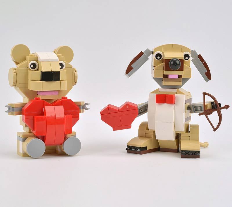 Lego dog and bear