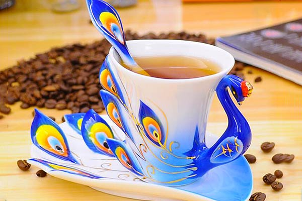 Peacock Cup Set