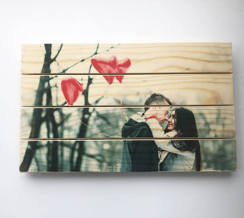personalized pallet photo art