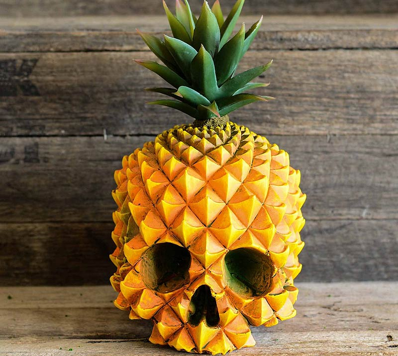 pineapple skull yellow