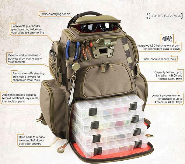 Tackle Tek Nomad Lighted LED Tackle Backpack