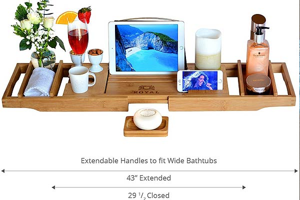 Luxury Bathtub Caddy Tray