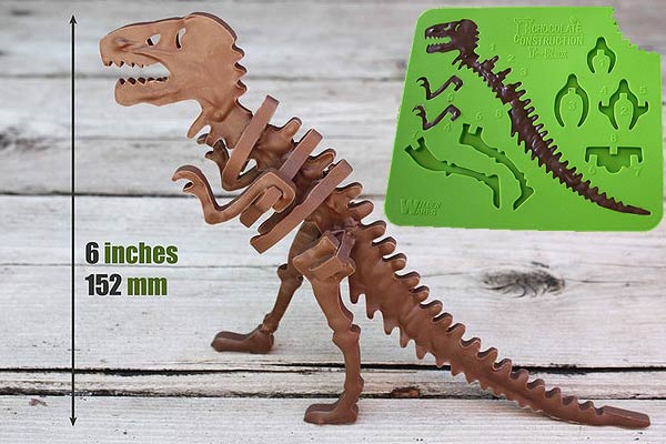 3D Chocolate T-Rex Building Mold