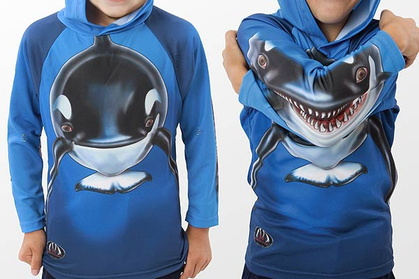 killer whale animated hoodie