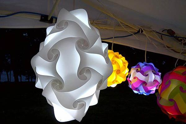 Puzzle Lamps Egg Shaped White ...