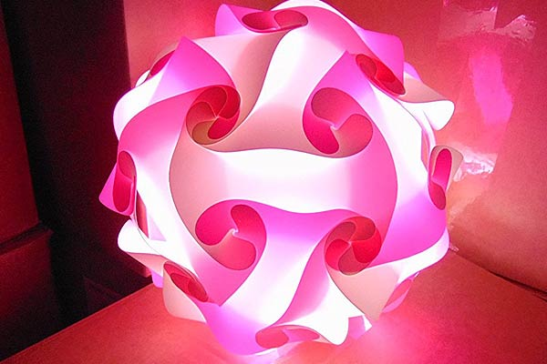 Puzzle Lamp Pink ...
