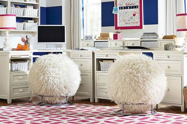 Exceptional Fuzzy Exercise Ball Chair ...