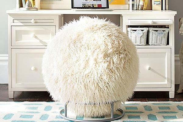 Fuzzy Exercise Ball Chair ...