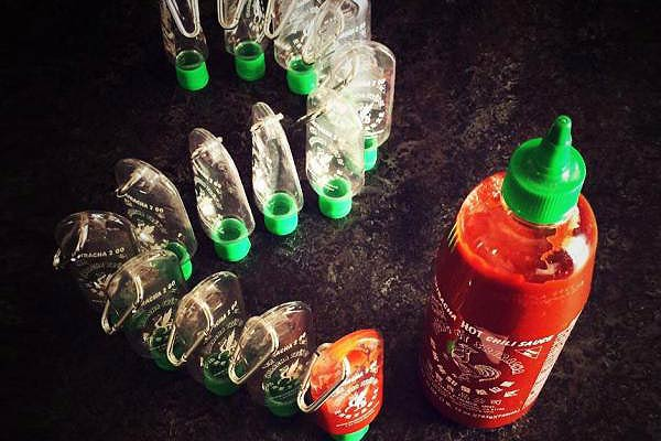 Sriracha Mini Keychain Bottle